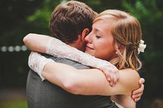 """Add this photo from Oregon wedding photographer Jay Eads to our list of tears standing out on brides' faces. Jay describes this as a """"I just got married!"""" tear."""