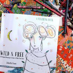 Wild & Free coloring book by Juliette Crane Free Coloring, Coloring Books, Coloring Pages, Eye Outline, Study Biology, Balance Art, White Paint Pen, Face Art, Art Faces