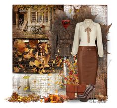 """""""Today... Delicious autumn! My very soul is wedded to it, and if I were a bird I would fly about the earth seeking the successive autumns (George Eliot)"""" by carineazevedo ❤ liked on Polyvore featuring GE, Sinéquanone, Yumi, Pier 1 Imports, Polo Ralph Lauren and Dsquared2"""