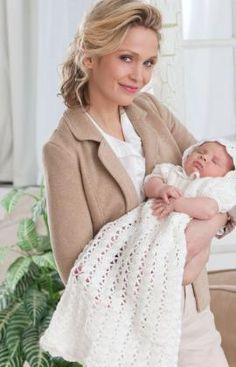 Crochet baby dress free pattern from Red Heart