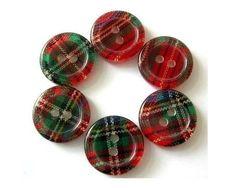 plaid buttons