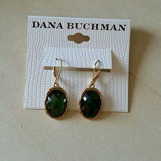Dana Buchman earrings NWT Dana Buchman earrings, gold with green stone. Dana Buchman Jewelry Earrings