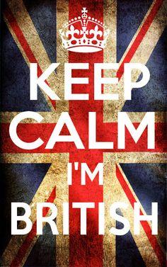 Keep Calm I'm British - A5 Iron on transfer.