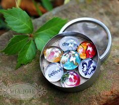 easy glass button magnets and pins.