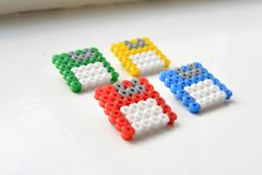 Hama Beads Colourful Floppy Disk Brooch - £3