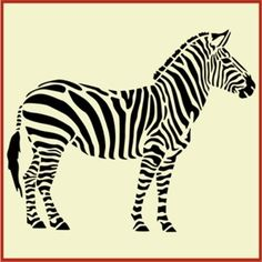 Zebra Stencil - to recreate Scalamandre wall paper with no arrows