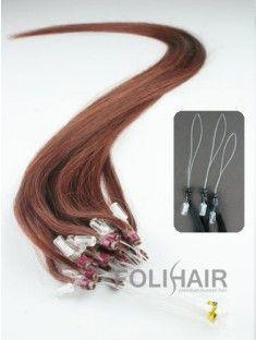 "100S 16"" Micro Loop Human Hair Extensions Dark Auburn(#33)"