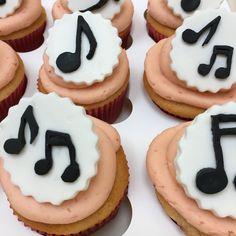 Luxury Musical Notes Cupcakes  - Minimum order 12 Cupcakes 12 Cupcakes, Bakery, Cheesecake, Dublin, Ireland, Desserts, Notes, Luxury, Cheesecakes