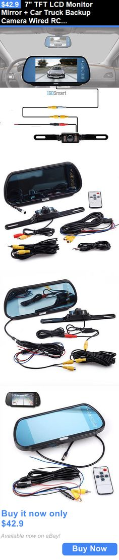 Rear View Monitors Cams and Kits: 7 Tft Lcd Monitor Mirror + Car Truck Backup Camera Wired Rca Kit Night Vision BUY IT NOW ONLY: $42.9