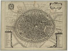 Map of Bruges in the 17th century