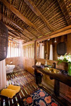 Bathroom - Padi House of Bambu Indah Resort, Ubud, Bali. Spa Design, House Design, Bungalow, Saint Claude, Voyage Bali, Jungle House, Thai House, Water Villa, Tropical Bathroom