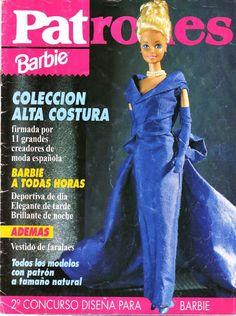 Revista de patrones para la muñeca Barbie.