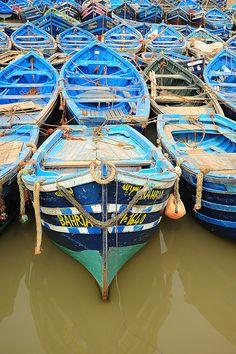 fishing boats, Essaouira, Morocco.  Photo: luca.gargano, via Flickr