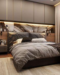 Квартира для Захара и Алены -Проекты Modern Luxury Bedroom, Master Bedroom Interior, Bedroom Bed Design, Bedroom Furniture Design, Modern Bedroom Design, Home Room Design, Small Room Bedroom, Luxurious Bedrooms, Bedroom Apartment