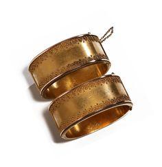 Victorian Gold Wedding Bracelets