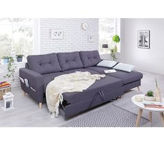 canap dangle droit convertible tissu gris anthracite stockholm canapes my dream hello - Grand Canape D Angle 10 Places