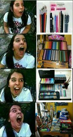 Lol I'm this girl Crazy Funny Memes, Really Funny Memes, Stupid Funny Memes, Funny Relatable Memes, Haha Funny, Memes Humor, Art Memes, Artist Problems, Funny Comics