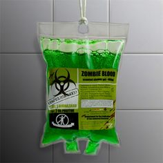 Very Cool Zombie Blood Shower Gel for sale by Rachels Graveyard at MoreThanHorror.com