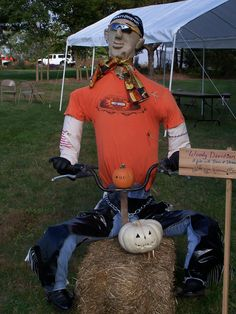 Harley Scarecrow created by Woodward & Associates