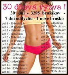 30 denní výzvy - zadek, břicho a nohy - stáhněte si tabulky - Diety24.cz