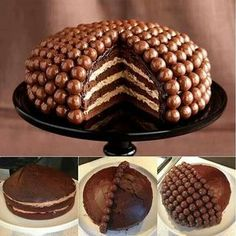 Tårta dekorerad med maltesers