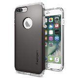 #10: iPhone 7 Plus Case Spigen [Hybrid Armor] AIR CUSHION [Gunmetal] Clear TPU / PC Frame Slim Dual Layer Premium Case for iPhone 7 Plus - (043CS20697)  Shop for iPhone 6 and 6s cases (http://amzn.to/2bALgTW) unlocked iPhones (http://amzn.to/2bAKkz7) Samsung Galaxy smartphones (http://amzn.to/2bKd1Iy) Prime exclusive phones (http://amzn.to/2bZBTwT) bluetooth headsets (http://amzn.to/2bJd6PO) wireless accessories (http://amzn.to/2cjPALD). affiliate