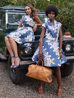 Anne Dress & Diane Dress - Africa Kitenge  #kitenge #africa #dress #africanfashion #fashion #nairobi #africandress #kenya #kitengedress http://njemahelena.tictail.com/product/anne-dress-grey