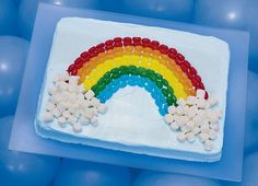 Rabasca-Clerico-- Catch a Rainbow Cake for Ade? Rainbow Parties, Rainbow Birthday Party, Fourth Birthday, Kid Parties, Summer Birthday, Birthday Celebration, First Birthday Cakes, Birthday Cake Girls, Birthday Ideas