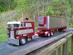 Peterbilt COE with reefer trailer