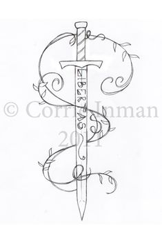 libertas sword tattoo by destianna.deviantart.com on @DeviantArt