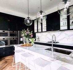 Back and white kitchen.