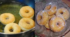 Dessert Recipes, Desserts, Crepes, Doughnut, Donuts, Food And Drink, Peach, Candy, Fruit