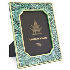 Modern Picture Frames | Green Malachite Frame 5 x 7 | Jonathan Adler