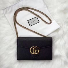 Gucci woman marmont chain WOC bag GG buckle