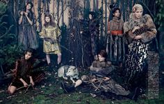into the woods: zlata mangafic, katryn kruger, sophie touchet, dasha gold, veroniek gielkens, pauline hoarau and bruna rosa by emma summerton for vogue japan october 2014 | visual optimism; fashion editorials, shows, campaigns & more!