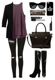 """Untitled #453"" by hannasmithlove25 ❤ liked on Polyvore featuring Topshop, RVCA, Miss Selfridge, JY Shoes, Ted Baker, Karen Walker, Casetify, Urban Decay and MAC Cosmetics"