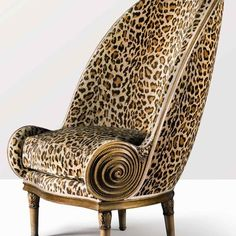 iconic 1913 Nautilus chair by French designer and illustrator Paul Iribe (1883–1935).