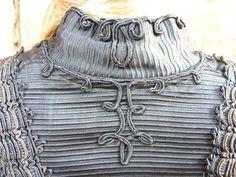 Victorian Lamb Coat Jacket Steampunk Silk Lined Corded Trim V back Turn of the Century. $429.00, via Etsy.