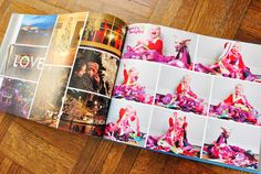 Family Yearbook - It's one big glossy photo book with all the family photos. The perk is that it has around 600 photos & only a half-inch thick. Awesome compared to the thick photo albums that only hold 100-200 pics each. from YHL. Great Idea!