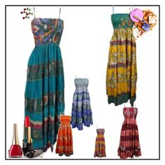 """Bodice Sundress"" by era-chandok ❤ liked on Polyvore featuring boho, beach, hippie and sundress"