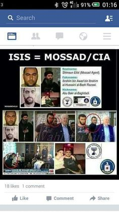 Current Jew hater conspiracy theory about IS being cooled up by Mossad and the CIA.T