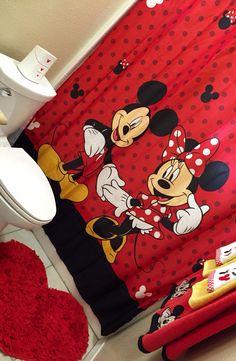 Mickey and Minnie Mouse bathroom decor