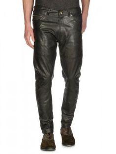 Diesel Patu Light Leather Pants worn by Klaus on #TheOriginals