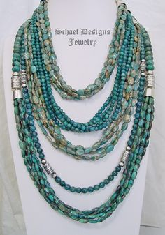 Schaef Designs apatite, aqua terra & sterling silver necklace pairing | New Mexico