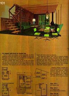 "Mid Century Modern Home plans as published by The American Plywood Association: ""Great Ideas for Second Homes"" : flickr"