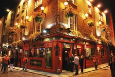 The Temple Bar in Dublin is the city's cultural quarter, offering fantastic food and nightly live music.