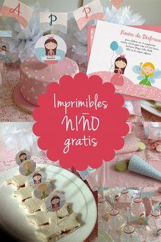 Imprimibles e invitación a conjunto www.invitaenunclic.com. Printables and…