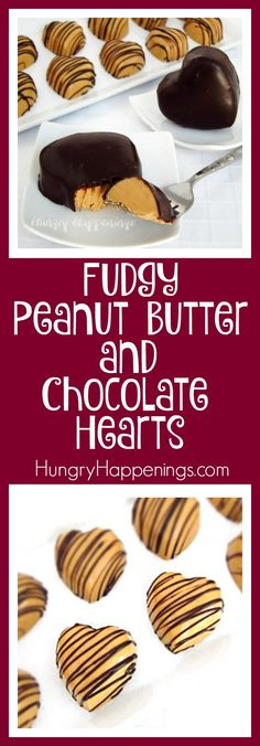 The perfect combination for the perfect person in your life. Make some Fudgy Peanut Butter and Chocolate Hearts and people will be feeling the love.