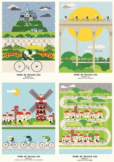 Tour de France 2011- I love these posters for a kitchen or bathroom