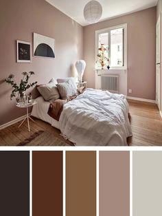 Bedroom Wall Colour Combination, Room Color Ideas Bedroom, Relaxing Bedroom Colors, Small Bedroom Colours, Best Bedroom Colors, Bedroom Colour Palette, Living Room Color Schemes, Cozy Bedroom, Apartment Color Schemes
